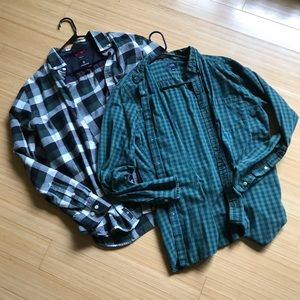 Green plaid shirt bundle